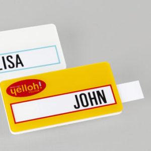 badge pro avec glissière en pvc